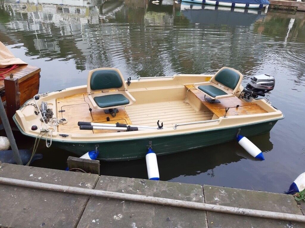 Fishing Boat - Sun Dolphin 120 Pro with 2 5 Mariner 4 stroke engine and  Bison electric motor | in Sunbury-on-Thames, Surrey | Gumtree