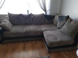Corner sofa & puffee got to go asap