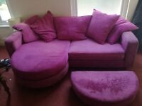 Large sofa, adjustable to make into L shaped sofa