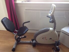 AS NEW V-FIT RECUMBENT EXERCISE BIKE GREAT CHRISTMAS PRESENT
