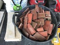 Free 2 inch by 4 inch quarry clay tiles
