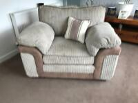 Corner sofa, chair