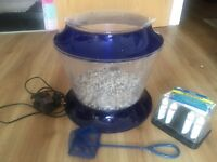 fish tank with stones, pump, net and water test kit £15