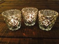 40 glass candle / tealight holders