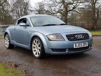 Audi tt 1.8 turbo 180 bhp 03 plate