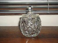 Cut Glass Preserves Jar