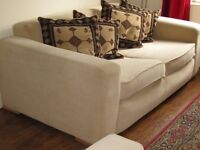 Cream valor deep two seat sofa and arm chair (washable)