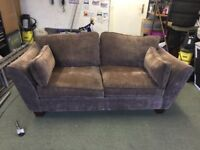 2/3 SEATER SOFA BROWN