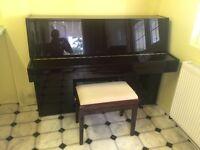 Piano High Gloss Dark Brown Modern Cabinet - Steinmayer