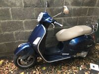 Vespa 300cc gts touring Limited blue Edition reg 125