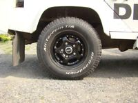 """Overfinch Wheels 16"""" inch Set of 4x wheels Defender/Classic Land Rover 4x4 Black Wheels 5 Studs"""
