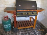 Gas BBQ - Lifestyle Queensland 3 Burner with cover and 13kg gas bottle