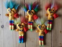 Valentines day gifts - Felted Voodoo dolls
