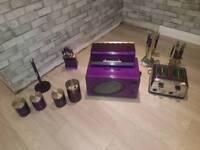 Purple kitchen stuff