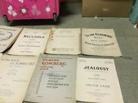 Old music sheets