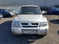 2003 MITSUBISHI SHOGUN WARRIOR 3.2 DI-D AUTOMATIC SILVER ESTATE