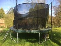 13 ft JumpKing Trampoline and safety next - free to collector - needs dismantling