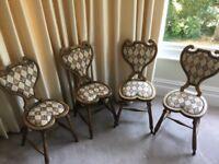 Rare heart shape window / dining room chairs.