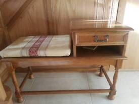 Oak telephone table