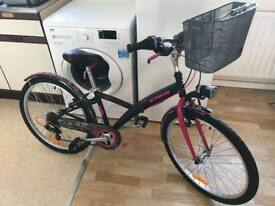 B Twin girls bicycle as new ridden 3 times only