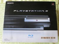 Original 60 Gig Sony Playstation 3 Boxed With Manuals