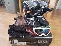 Snowboard Boots & Acc Bundle BARGAIN
