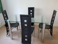 4 seat Dining Table + Chairs