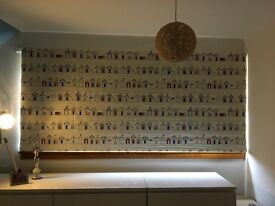 Hilary's Roman Blackout Blind (New) - 'Beach Huts' Design