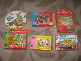 Selection of 6 Large Floor Puzzles Kids