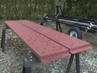 PAIR OF 9FT STEEL RAMPS IDEAL TRAILER TRUCK PLANT ETC.........