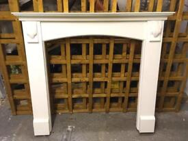 White fire surround - marble inset and hearth