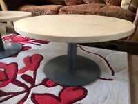 Wood tables & metal bases