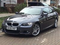 BMW 320d m sport 2dr coupe 2008 manual grey black leathers good con in and out