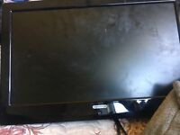 Black smallish tv built in freeview no stand