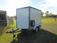 8ft long x 4ft 6ins wide x 6 high box trailer