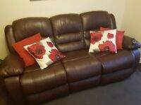 3 seater sofa with manual recline