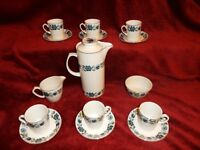 15 Piece Coffee Set by Alfred Meakin in Glo-White Ironstone unknown Pattern