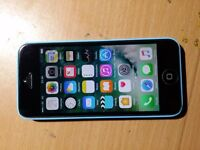 Iphone 5c on ee network 16gb blue colour mint condition