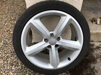 """Audi 18"""" Alloys Wheel & Tyres"""