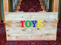 Handcrafted toy boxes