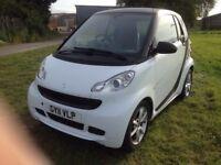 Smart Fortwo 0.8 CDI Diesel Pulse White/Black 2011 69k miles New MoT & Serviced