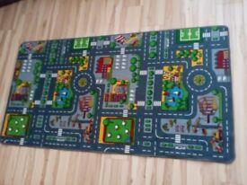 Children's car play mat 188 X 99cm