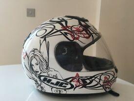 Gorgeous ladies HJC Motorbike Helmet - Medium