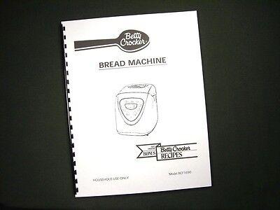 bcf1690 bcf 1690 bread maker machine instruction