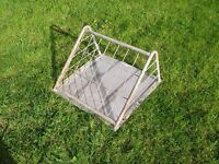 Galvanised Hay Rack suitable for goats sheep or ponies - wall mount type