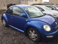 VW Beetle 12 months MOT, air con, central locking