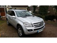 2007 A FANTASTIC DIESEL MERCEDES GL320 FOUR WHEEL DRIVE 7 SEATER CDI 4-MATIC A SILVER