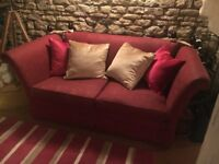 LAURA ASHLEY CRANBERRY 3 X 2 SEATER SOFAS CAN DELIVER FREE