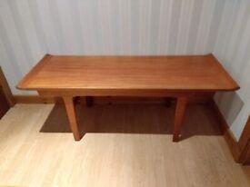MCM Vintage Coffee Table - Solid Wood Mid Century Modern Retro Danish