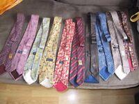 10 x gucci silk tie ties